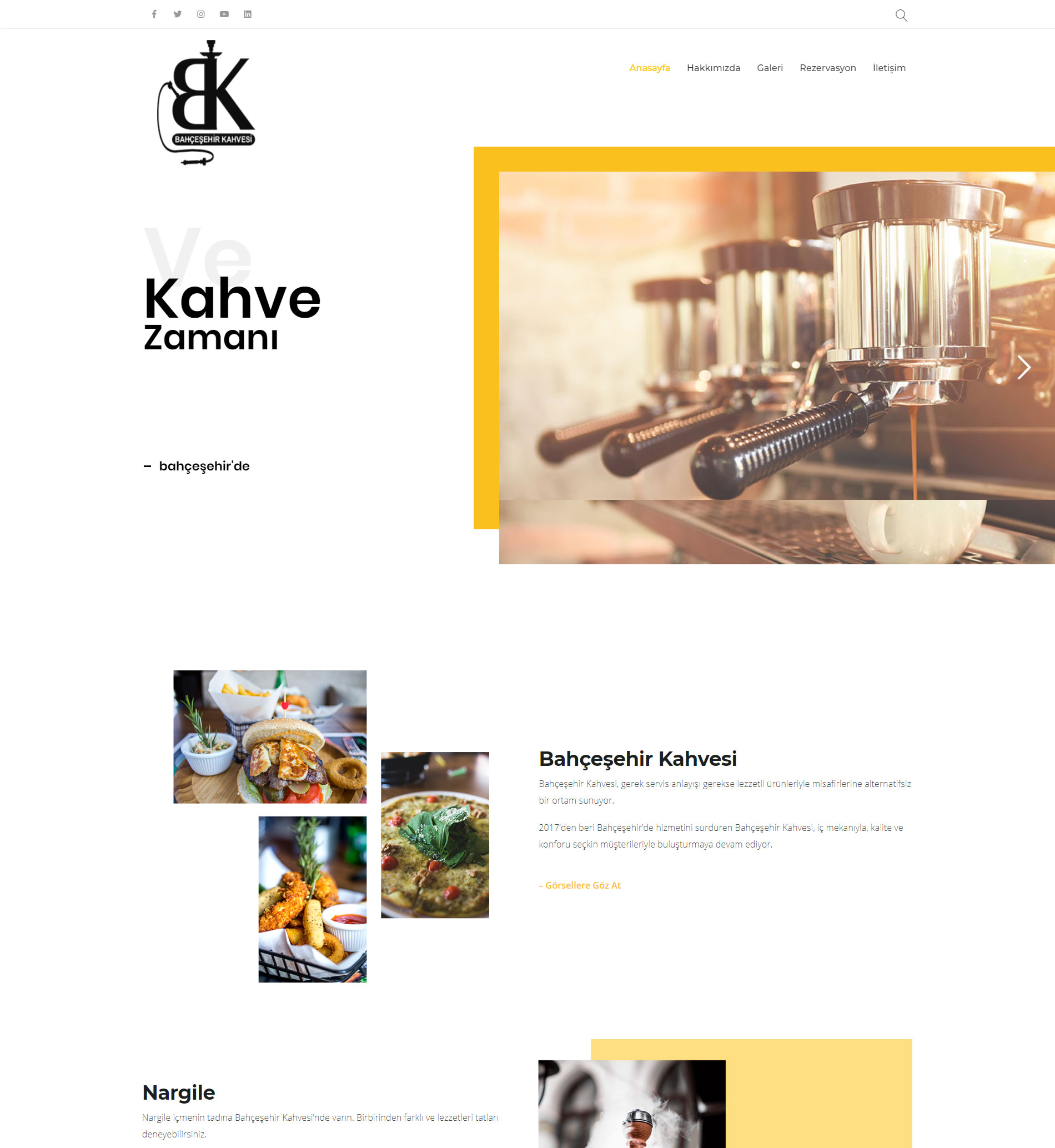Bahçeşehir Kahvesi & Web Tasarım