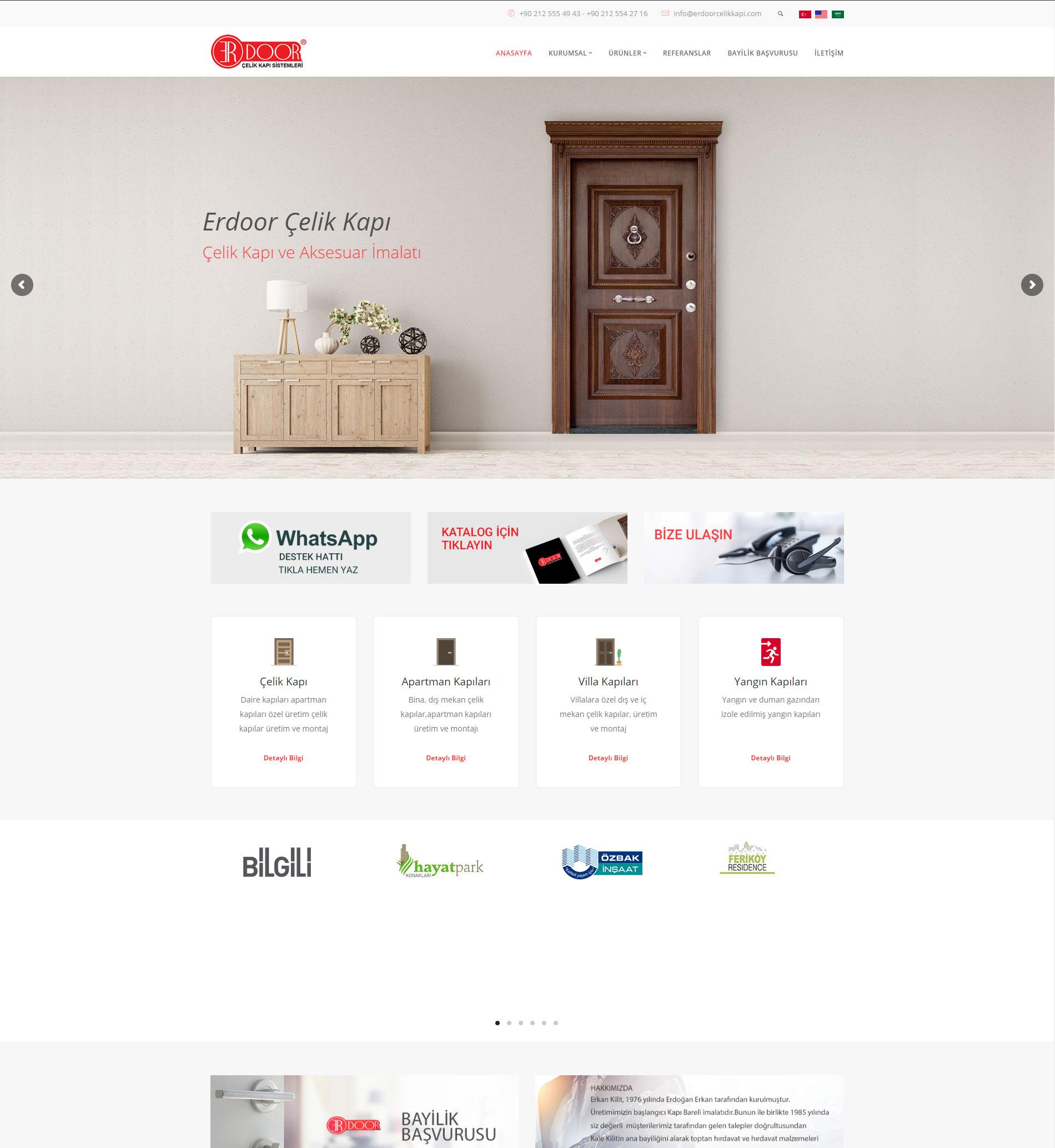 Erdoor Çelik Kapı & Web Tasarım